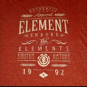 Element XL men's tee heather red NWOT XL